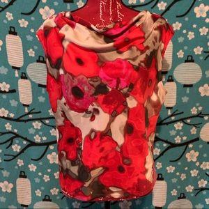 Anne Klein floral top XL